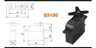 Servo Futaba S 3150 D 30x10x29mm BBM..