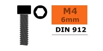 Schraube M 4,0x  6mm Zyl.kopf-Gewinde (Inbus) 10St