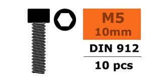 Schraube M 5,0x 10mm Zyl.kopf-Gewinde (Inbus) 10St