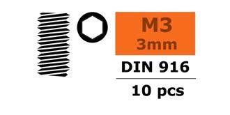 Madenschraube M 3.0x  3mm  10St