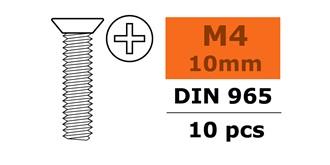 Schraube M 4,0x 10mm Senkkopf-Gewinde (Kreuz) 10St