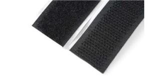 Klettband Velcro selbstklebend schwarz 20mm/500mm