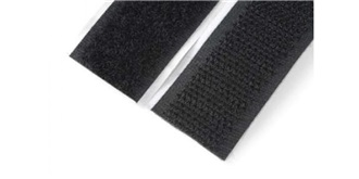Klettband Velcro selbstklebend schwarz 38mm/500mm
