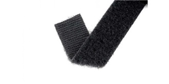 Klettband Velcro back to back schwarz 500mm