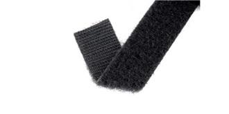 Klettband Velcro back to back schwar..