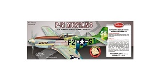 Guillow P-51 Mustang (710mm) Kit Balsaholz