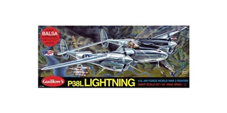 Guillow P-38 Lightning (1010mm) Kit Balsaholz