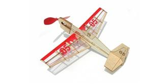 Freiflug Gummimotor Stunt Flyer Kit Balsaholz