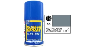 Mr.Color Spray grau (US) S13 semi-gloss 100ml