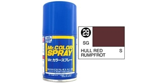 Mr.Color Spray rot (Rumpf) S29 semi-gloss 100ml