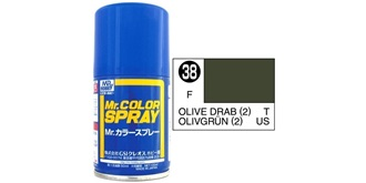 Mr.Color Spray olivegrün (US) S38 semi-gloss 100ml