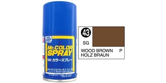 Mr.Color Spray braun (Holz) S43 semi-gloss 100ml