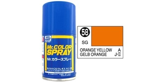 Mr.Color Spray orangegelb S58 semi-gloss 100ml