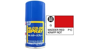 Mr.Color Spray rot (Madder) S68 gloss 100ml