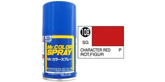 Mr.Color Spray rot (Figur) S108 semi-gloss 100ml