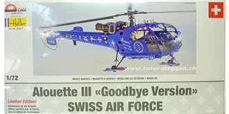 HELLER Alouette III Goodbye  KIT Plastik 1:72