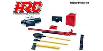 Body Parts Werkzeug Satz rot 1:10