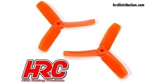 "Propeller 3-Blatt 4x4,5"" orange M5 (1xCW/1xCCW)"