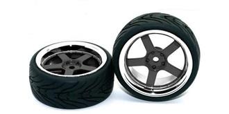 Reifen HRC Street-V schwarz-chrome 2St