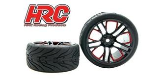 Reifen 1:10 Touring Street rot/schwarz 2St