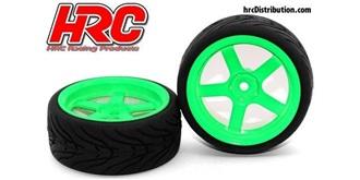 Reifen 1:10 Touring Street 5-spoke grün 2St