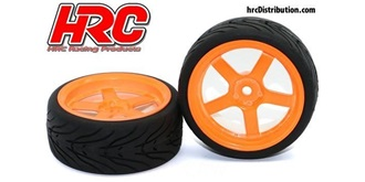 Reifen 1:10 Touring Street 5-spoke orange 2St