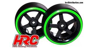 """Reifen 1:10 """"Drift"""" grün Offset +3mm.."""