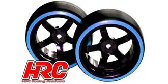 """Reifen 1:10 """"Drift"""" blau Offset +6mm 2St"""