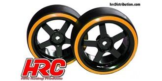 """Reifen 1:10 """"Drift"""" orange Offset +6mm 2St"""