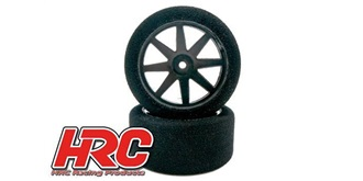 Reifen Moosgummi HRC 1:10 30mm 35sh Felge schwarz