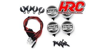 Zusatztscheinwerfer Hella Rally 3000 4St. mit LED