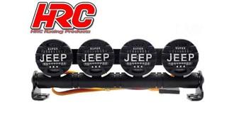 Dachleuchten Jeep Cover 4 LEDs l=102mm 4,8-6V