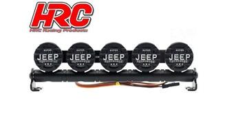 Dachleuchten Jeep Cover 5 LEDs l=127mm 4,8-6V