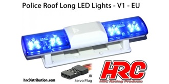 Licht Police Roof Long Lights V1 blau 1St