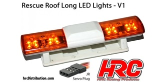 Licht Police Roof Long Lights V1 orange 1St