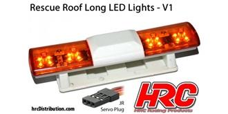 Licht Police Roof Long Lights V1 orange 1St