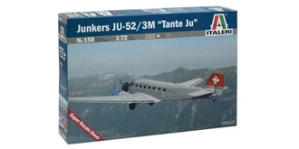 ITALERI JU-52 Tante  CH-Version 1:72 Kit Plastik