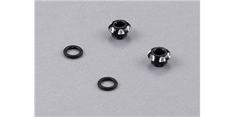 LED Fassung 3mm Alu schwarz 2St.