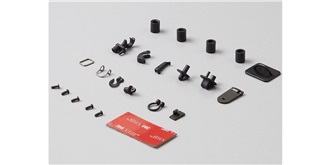 KarZub Hacken + Ösen Set (Druckguss Alu schwarz)