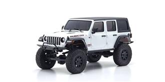 RC Car Kyosho Mini-Z Jeep Wrangler Rubicon weiss..