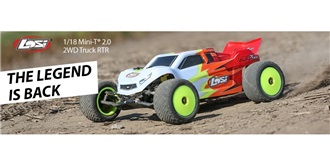 RC Car LOSI Mini-T Stadium Truck rot 2WD 1:18 RTR