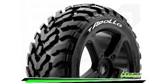 Louise RC - T-APOLLO - 1-8 Truggy Reifen - Fertig Verklebt - Soft - Speichen Felgen Schwar