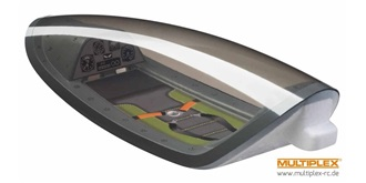 FunRay Kabinenhaube transparent mit Cockpit