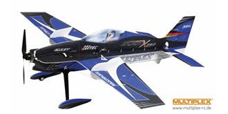 RC Flug Multiplex Slick X360 4D blau Indoor Edit..