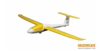 Freiflug Mini Solius 650mm gelb/weiss Wurfgleiter