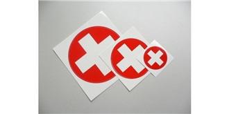 Decor Schweizer Kreuz selbstklebend rund 30mm 2St