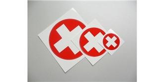 Decor Schweizer Kreuz selbstklebend rund 70mm 2St