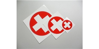 Decor Schweizer Kreuz selbstklebend rund 110mm 2St