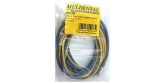 Kabel 4,0mm² Silikon  je 2m  gelb/blau