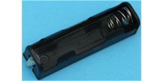 Batteriebox 1x AA Zellen, Flach, Lötanschluss